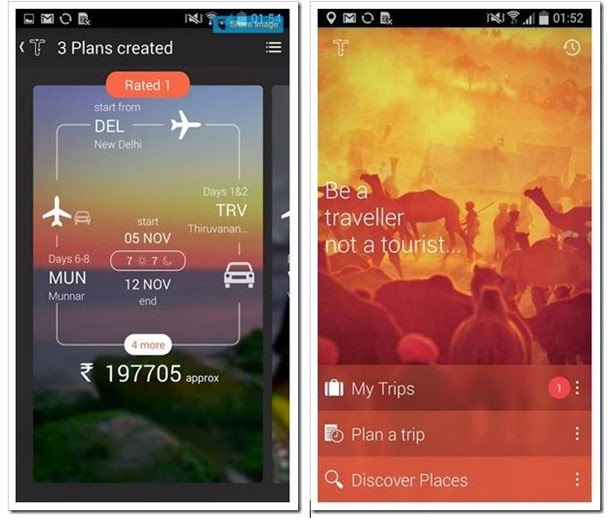 Tripigator an android app for Indian Tourists