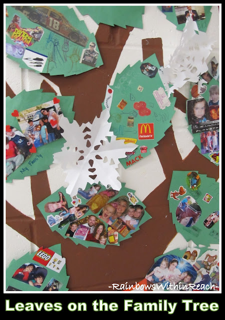 "photo of: ""Our Family Tree"" Painted Mural in Elementary School"