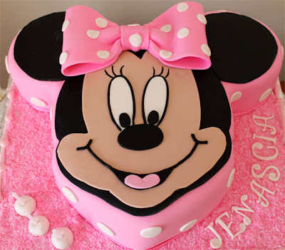Barney Minnie Mouse Cake Ideas and Designs
