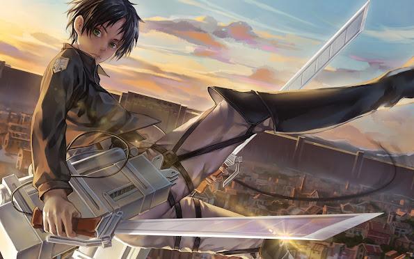 eren jaeger 3d maneuver gear attack on titan shingeki no kyojin anime