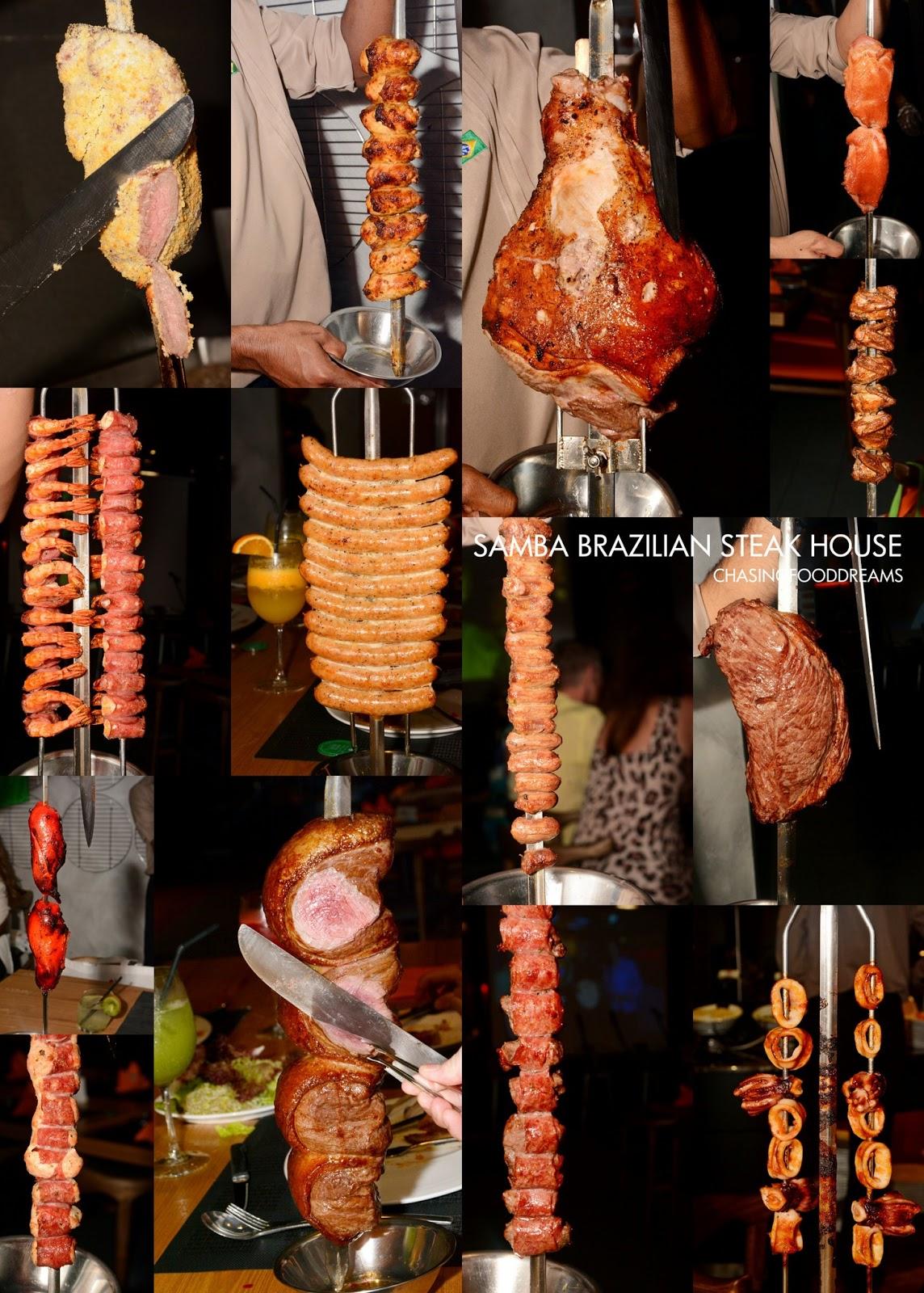 Chasing food dreams samba brazilian steak house for Samba buffet