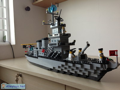 Enlighten Brick Toy Navy Ship