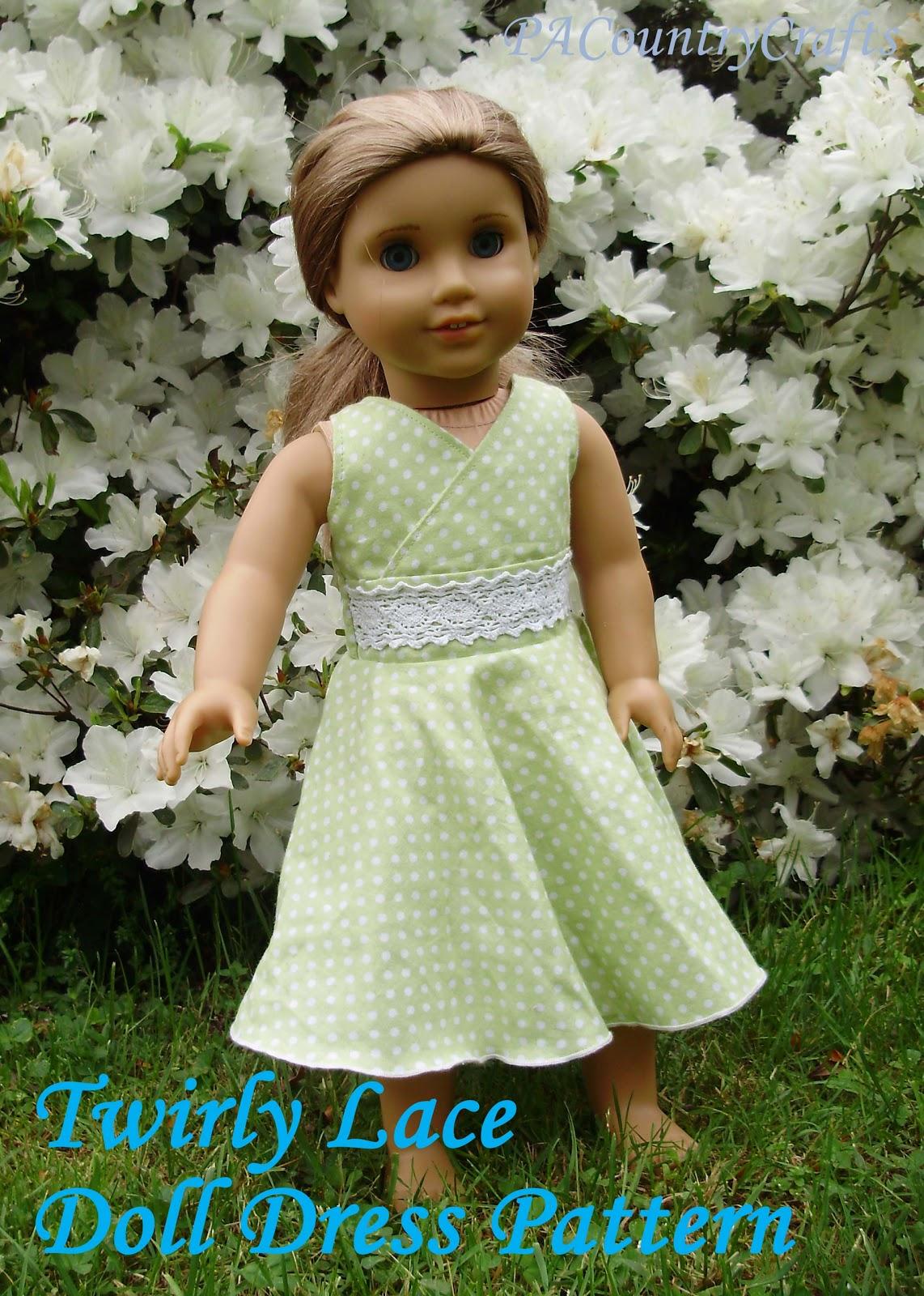 Twirly Lace Doll Dress Pattern | PA Country Crafts