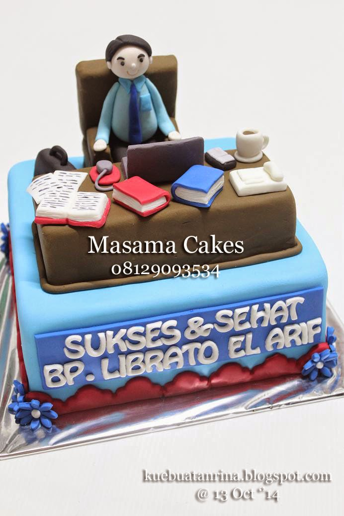 Masama Cakes Office Themed Birthday Cake For Bapak Librato
