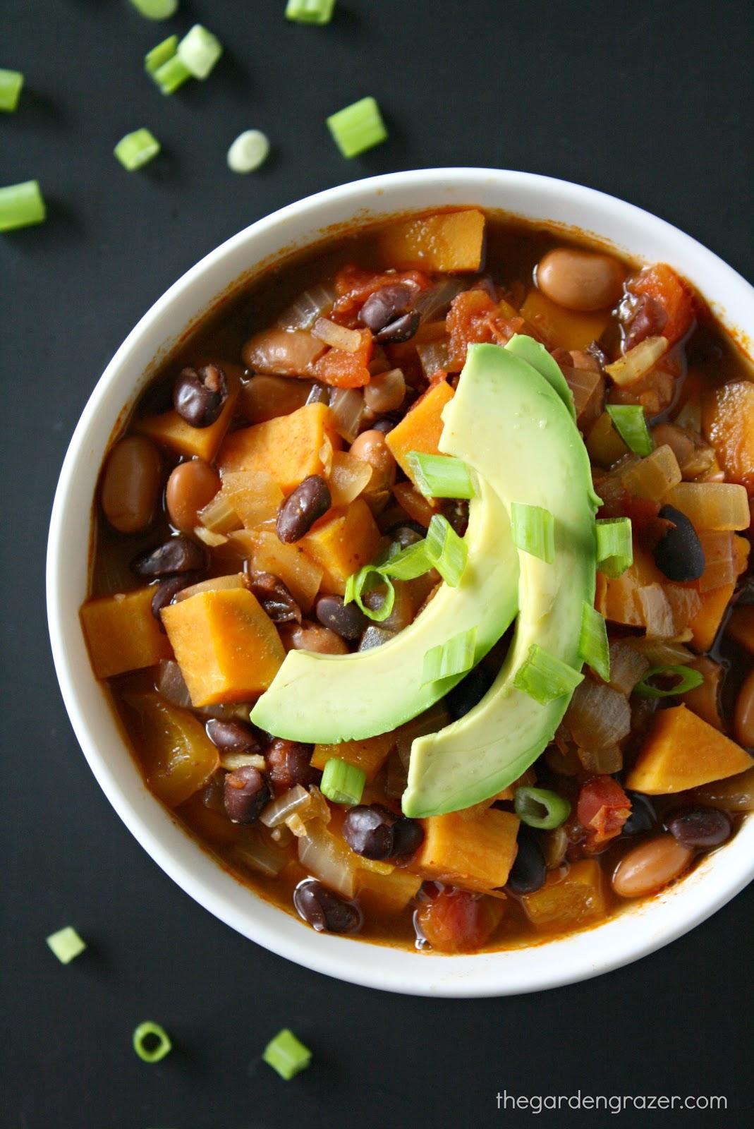 The Garden Grazer: Sweet Potato Black Bean Chili