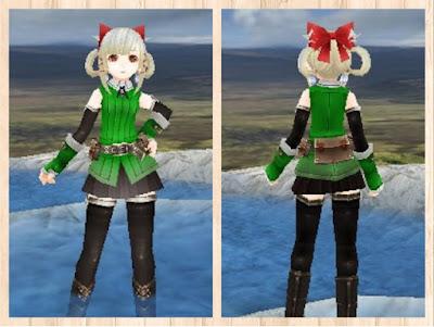冒険者の服 緑1