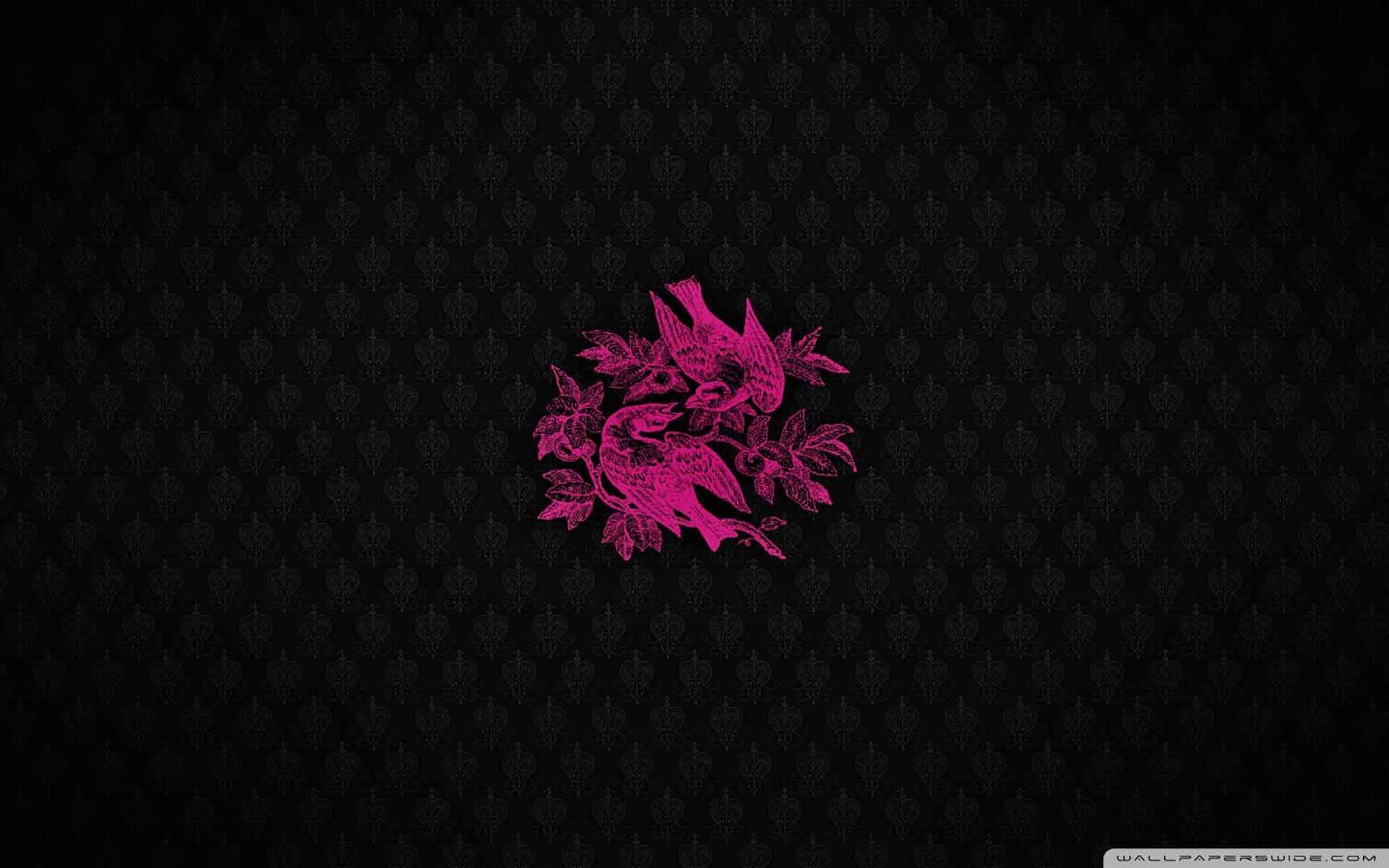 pink birds wallpaper