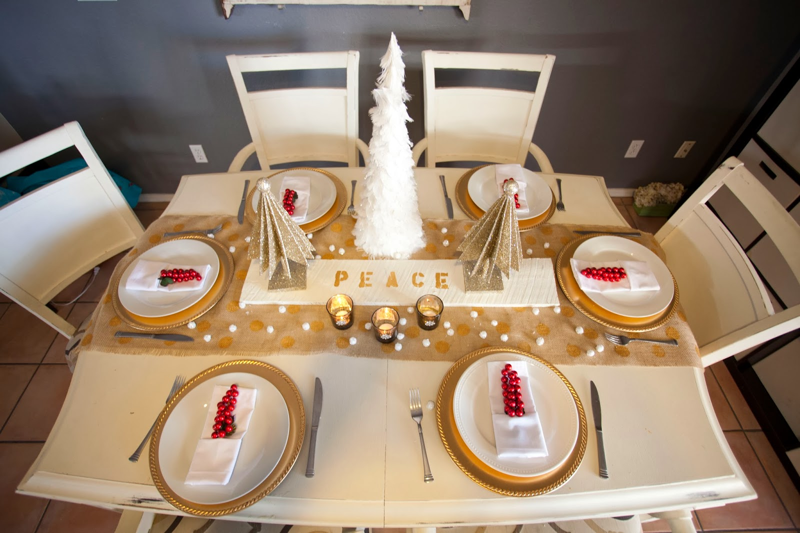 17 Spectacular Photo Of White And Gold Table Settings