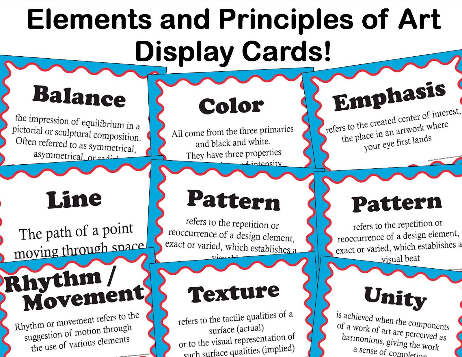 Different Elements And Principles Of Art : Common core vocabulary for middle school visual arts
