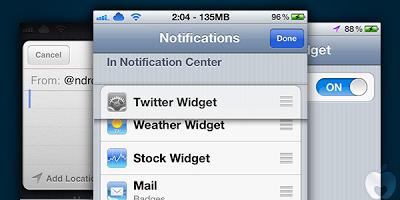Twitter Widget Cydia