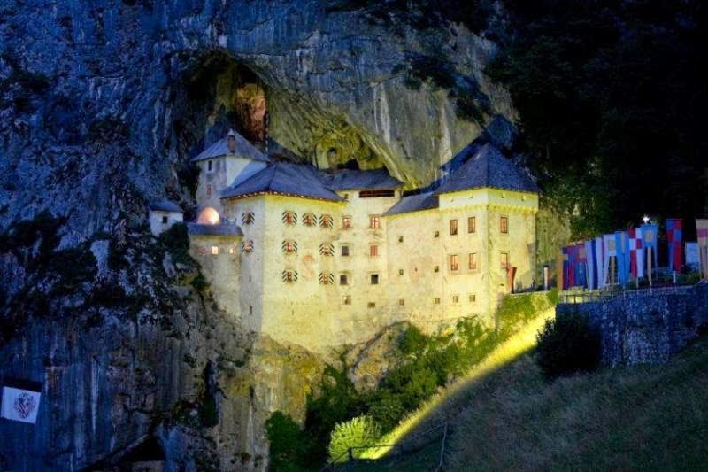 Predjama Castle in Slovenia