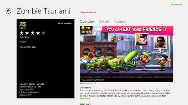 Zombie Tsunami win8