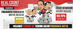 Tok! Rekap KPU di 33 Provinsi Selesai, Jokowi-JK Menang 53,15%