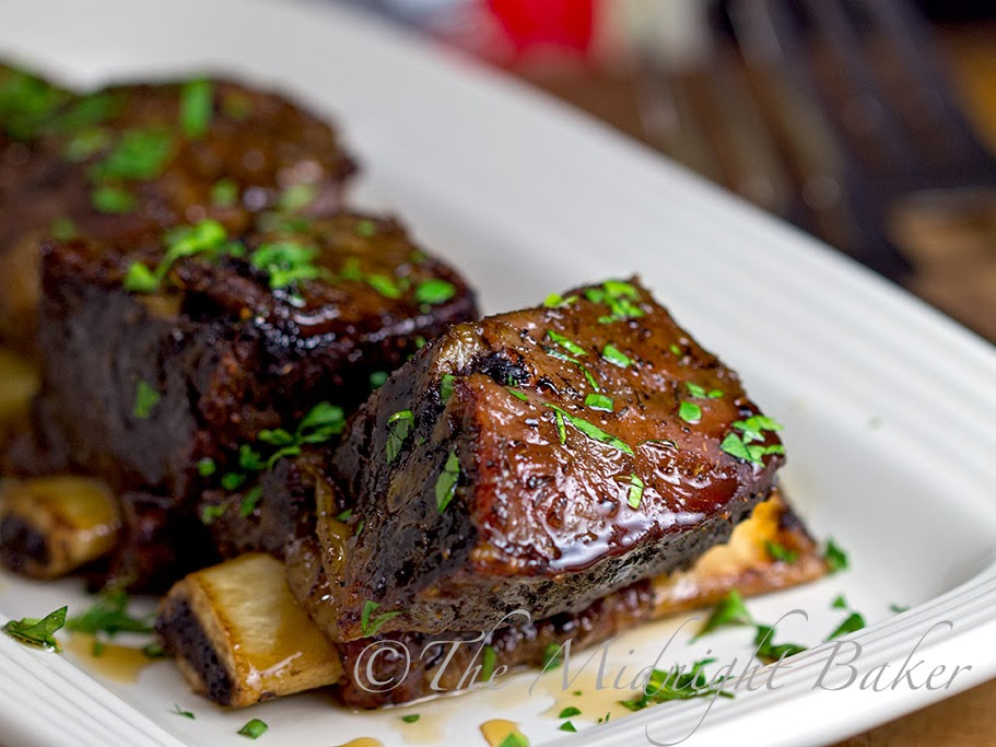 Slow-Cooked Mustard Short Ribs Recipe — Dishmaps