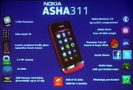 Spesifikasi Harga Nokia Asha 311 baru