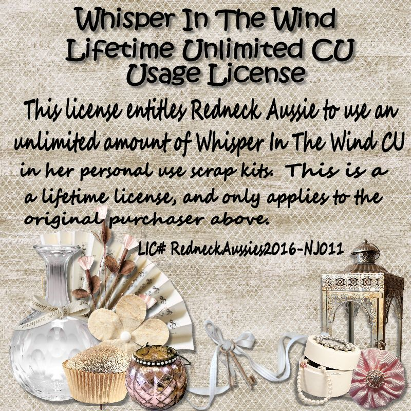 CU LIFETIME LICENSE FOR WHISPER IN THE WIND