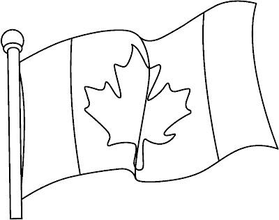Desenho da bandeira do Canadá para colorir