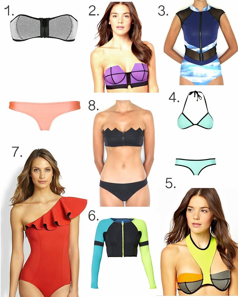 Triangl, Lisa Marie Fernandez, Neoprene swimwear, Skye & Staghorn, N.L.P Women, Roxy