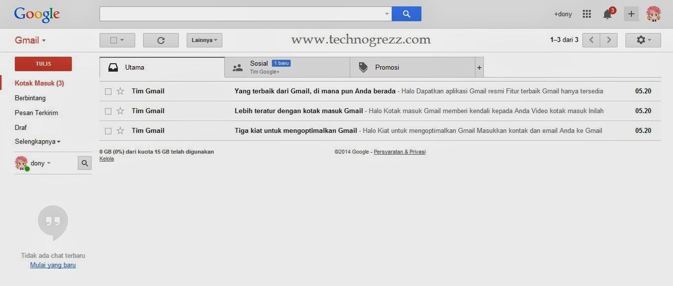 Cara membuat akun Gmail done