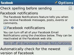 Facebook NO Notifications Error BlackBerry