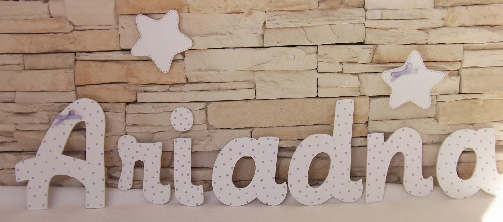 Decoraci n infantil pekerines letras de madera para la - Casa letras madera ...