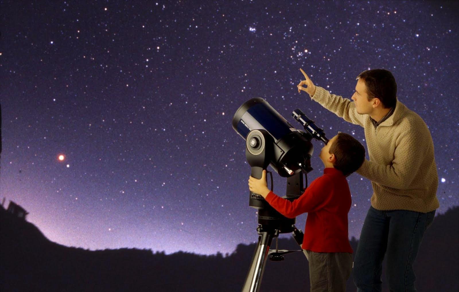 Mirando a las estrellas.