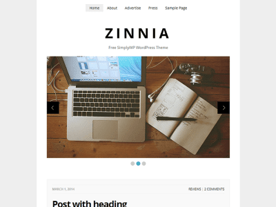 Zinnia WordPress Theme