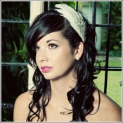 ivory feather headpiece