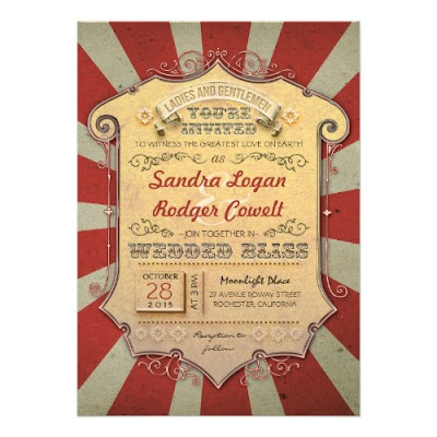 Awesome Carnival Custom Wedding Invitation