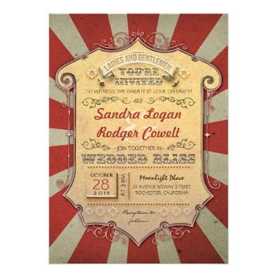 Awesome Carnival Custom Wedding Invitation