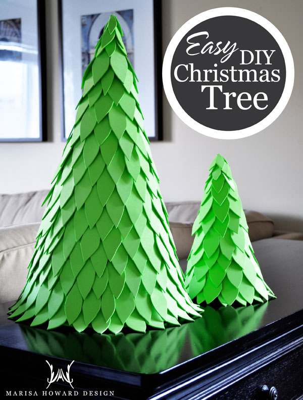 Crush Of The Month DIY Christmas Cone Trees