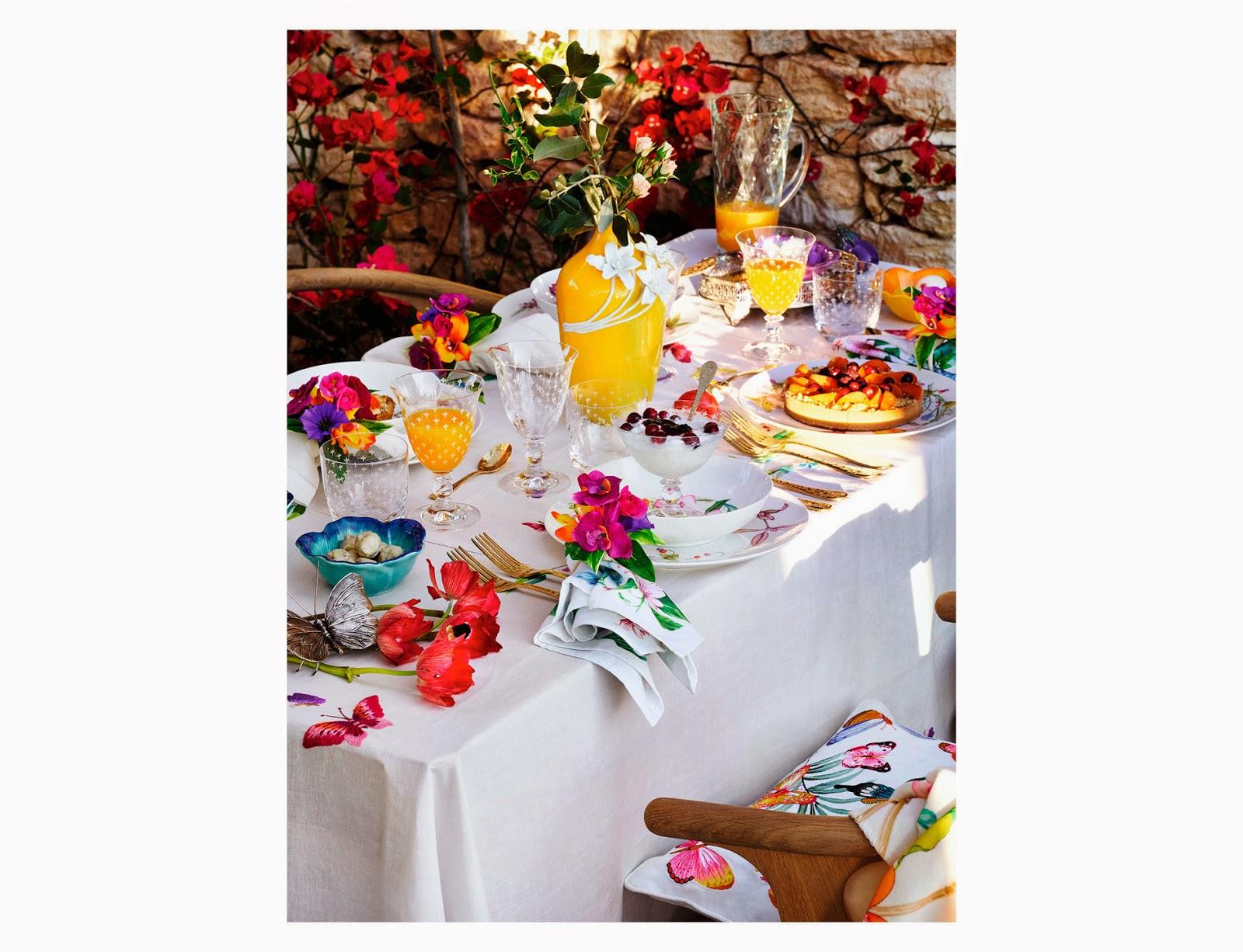 ZARA HOME colección primavera 2014: color estampados florales y motivos marinos