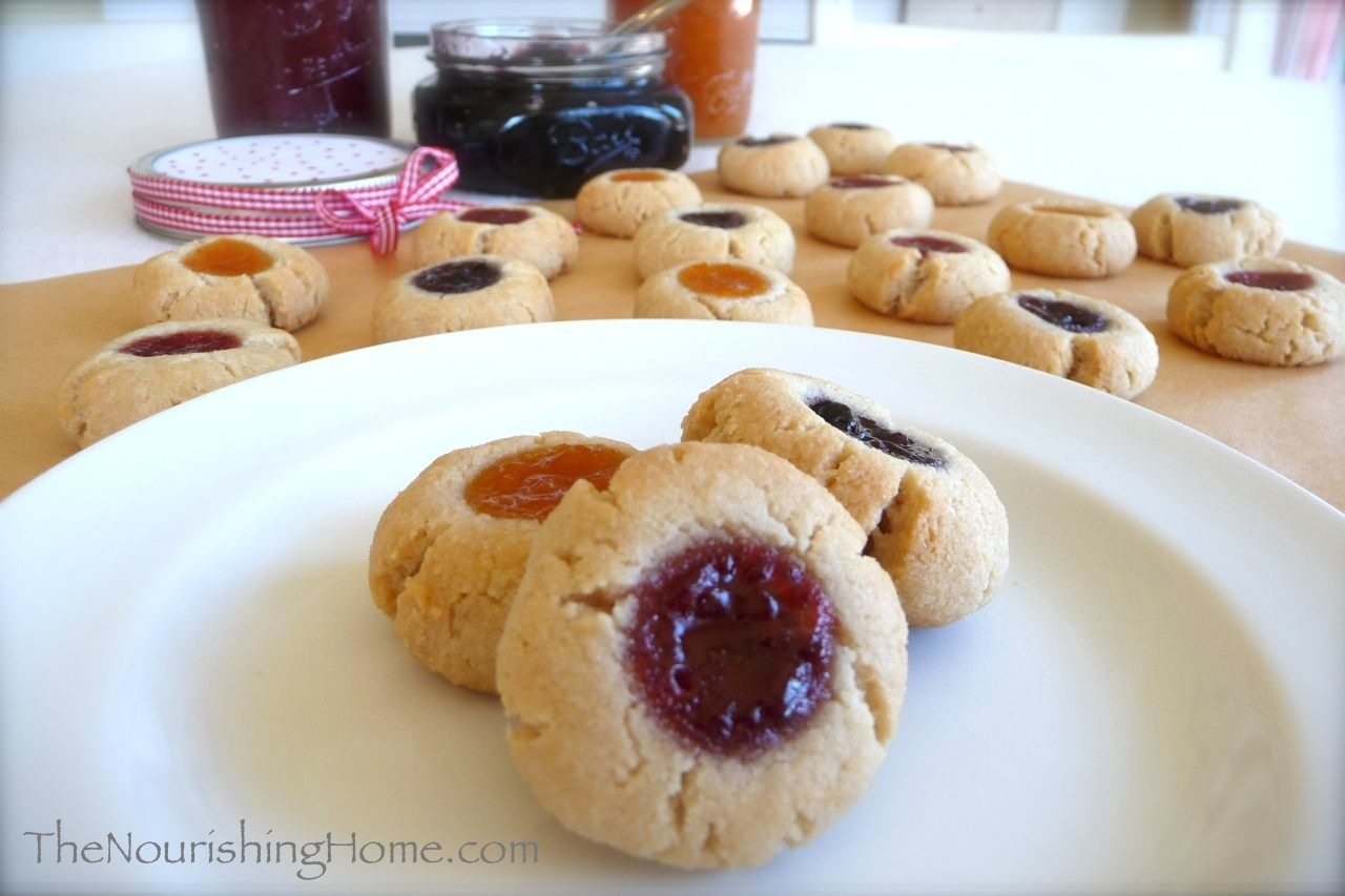 Almond Flour Thumbprint Cookies Recipe | In The Kitchen With ...