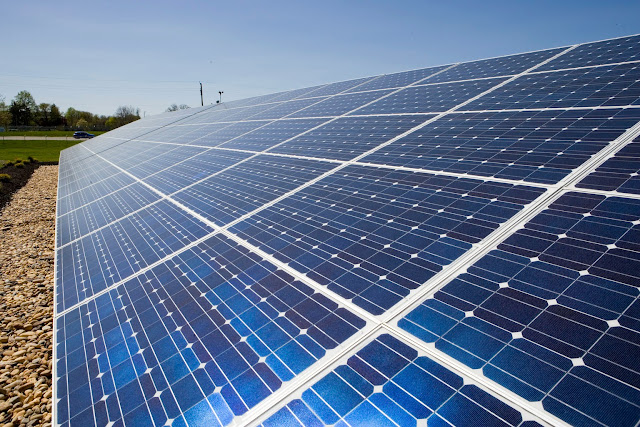 solar array - photovoltaic effect - solar city