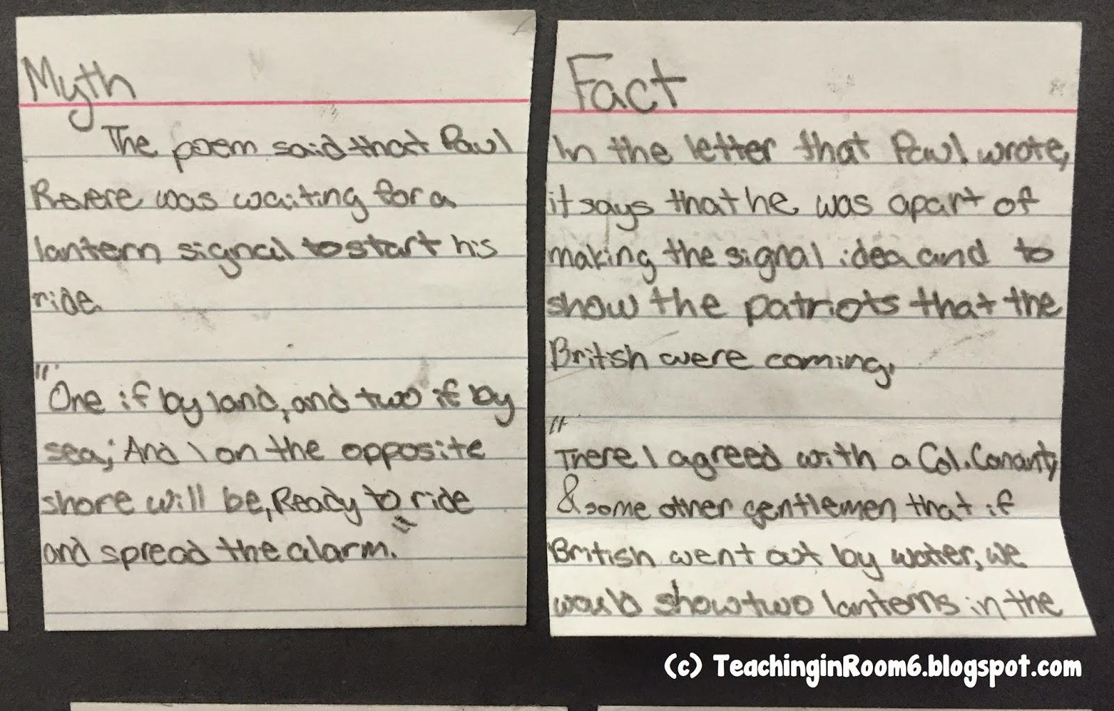Paul Revere: Fact or Myth? - Teaching in Room 6
