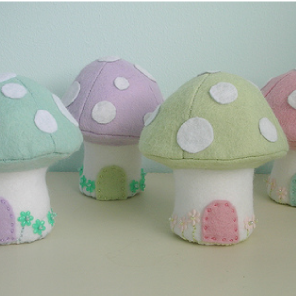 Easter mushrooms by Torie Jayne