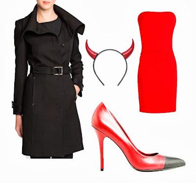 Halloween, disfraz, fiesta, diablesa