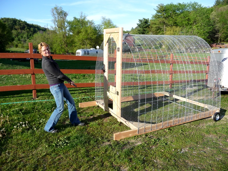 How to move chickens gypsy farmgirl for How to build a movable chicken coop