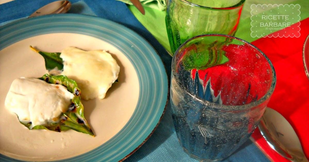 Ricette barbare mozzarella alla piastra su foglie di - Foglie limone nere ...
