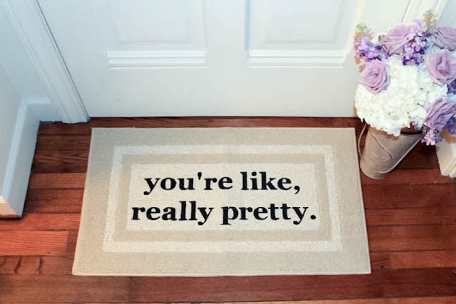 mean girl quotes on a doormat