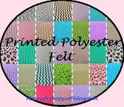 Printed Polyester Felt