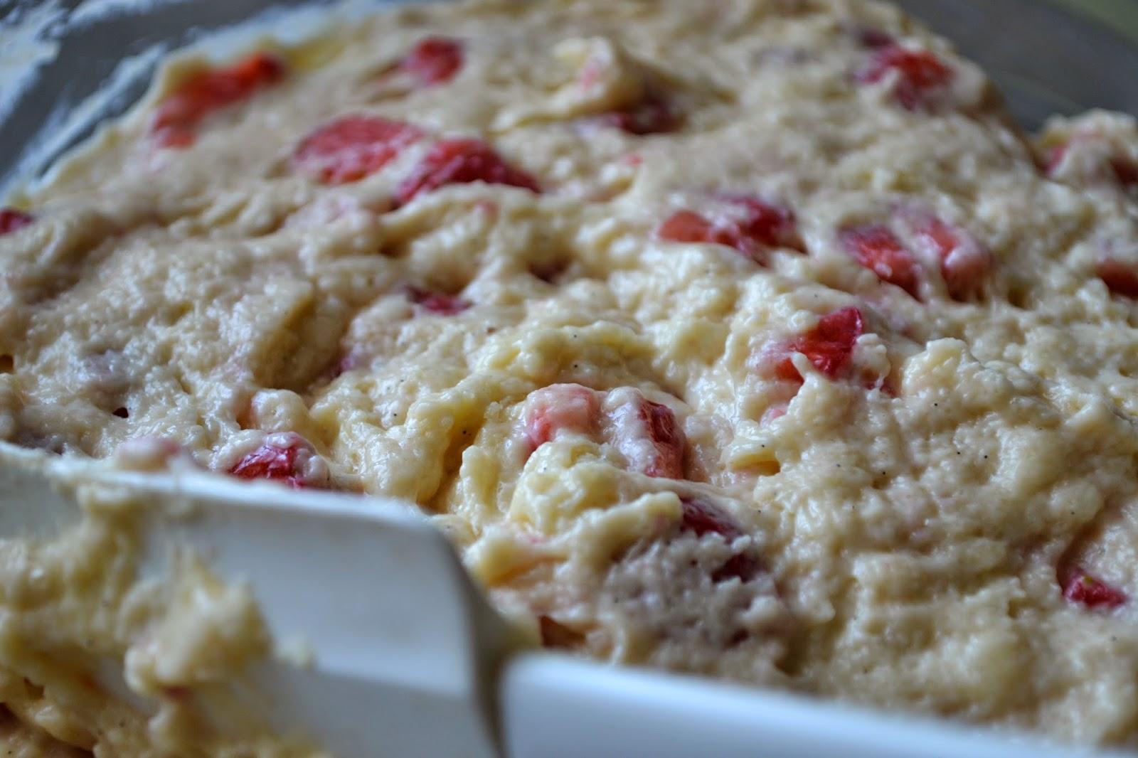 Teig für Erdbeer-Muffins