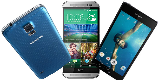 samsung galaxy s5 vs htc one m8 vs xperia z2