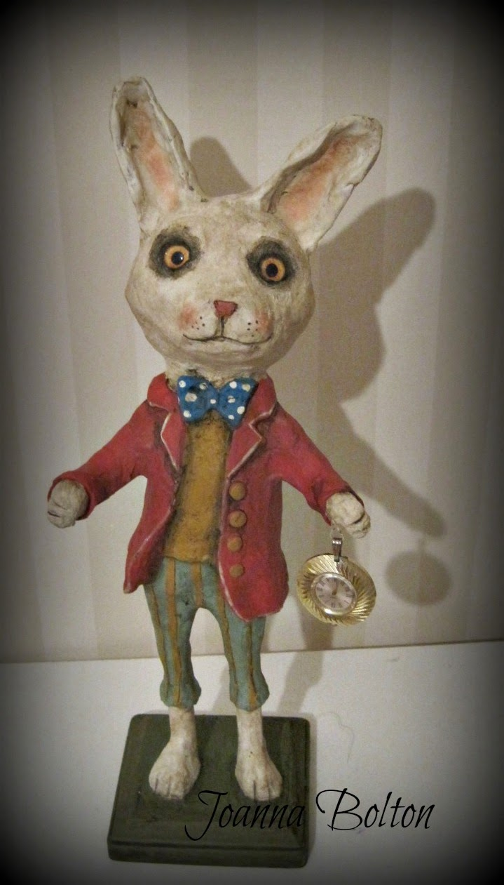 Papier mache rabbit