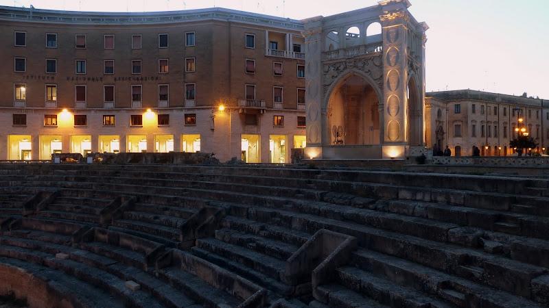 Amphitheater und Sedile in Lecce (Apulien)