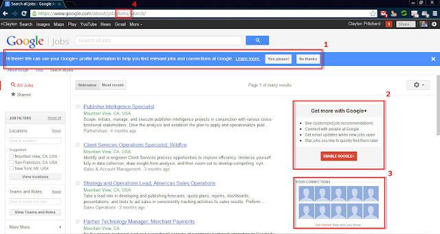 Google+ Enhanced Job Search on Google Jobs