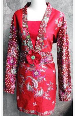 model baju batik wanita untuk pesta
