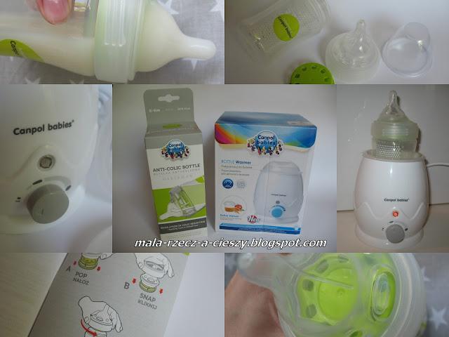 Testowanie butelki antykolkowej Haberman i podgrzewacza od Canpol babies