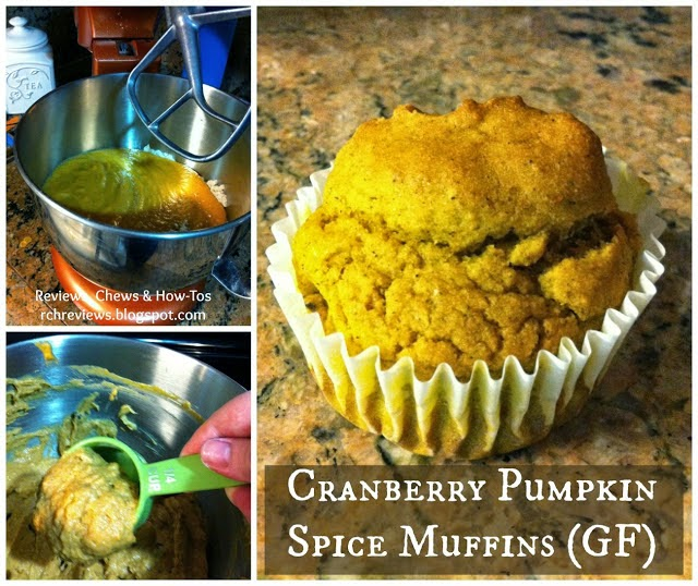 Gluten Free Cranberry Pumpkin Spice Muffins by RCH Reviews