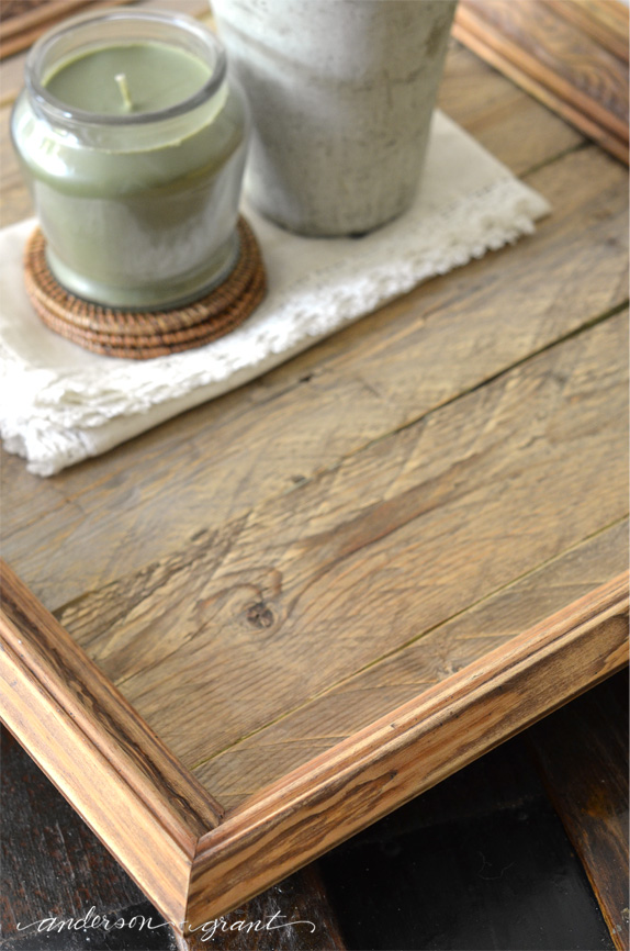 DIY Reclaimed Wood Tray | www.andersonandgrant.com
